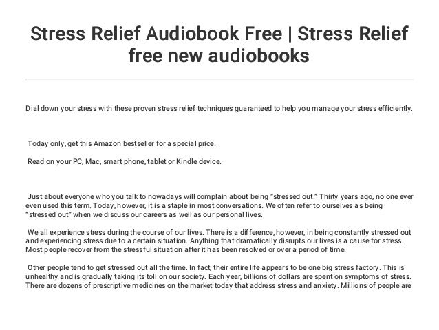 Stress Relief Audiobook Free | Stress Relief free new audiobooks