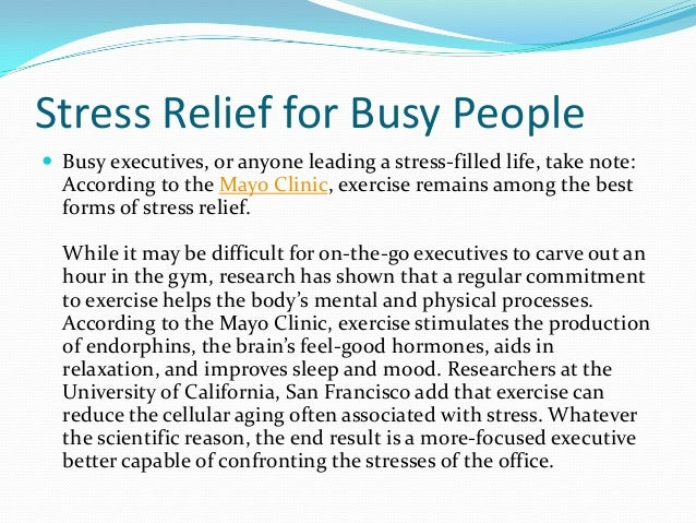 Stress reduction techniques for busy adults