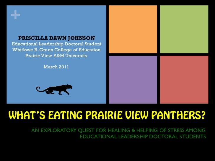 +  PRISCILLA DAWN JOHNSONEducational Leadership Doctoral StudentWhitlowe R. Green College of Education     Prairie View A&...