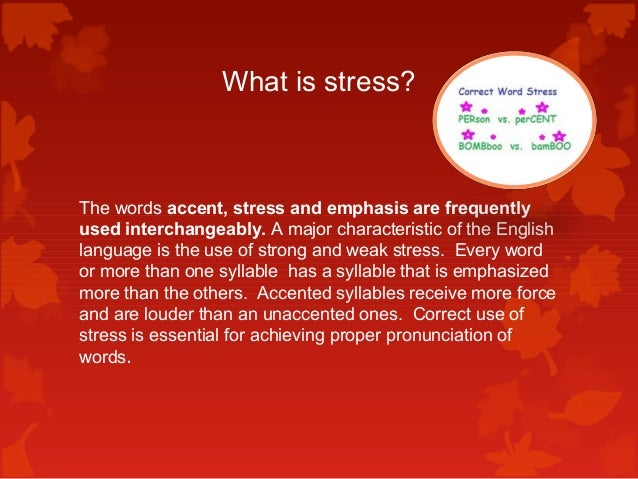 stress and rhythm in english The american english pronunciation podcast teaches every aspect of english pronunciation, including sound production, syllable stress, english intonation patterns, and spoken rhythm.