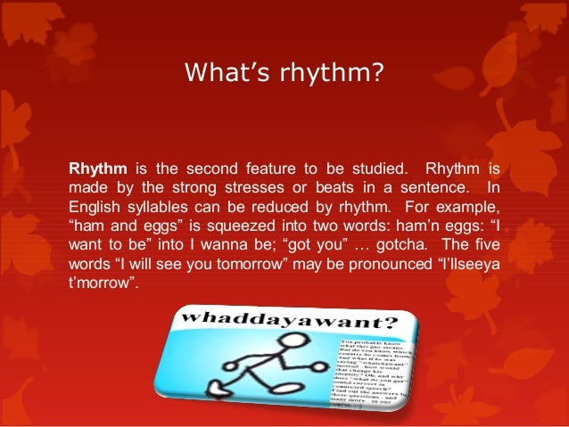 what is the difference between rhythm and intonation