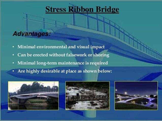 Stress ribbon bridge