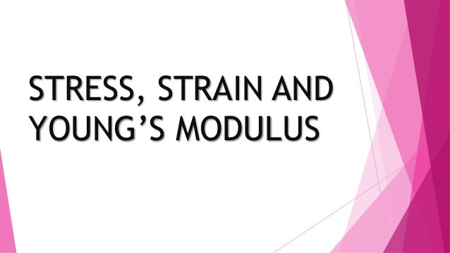 STRESS, STRAIN AND YOUNG'S MODULUS