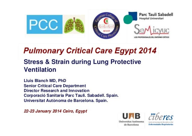Stress & Strain during Lung Protective Ventilation Lluis Blanch MD, PhD Senior Critical Care Department Director Research ...