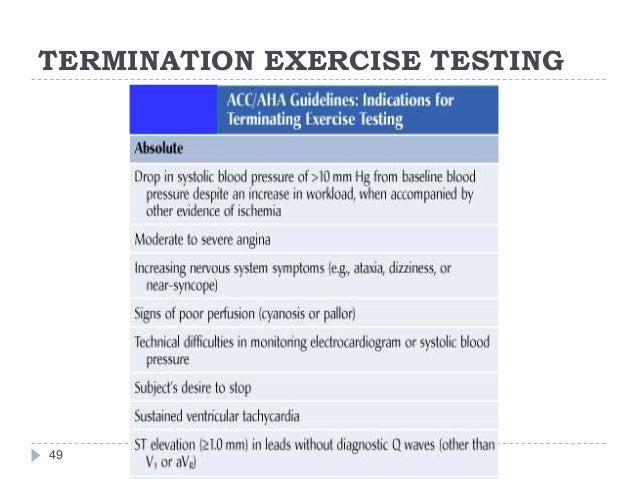 TERMINATION EXERCISE TESTING 49