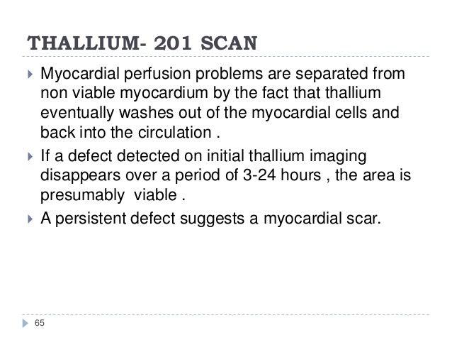 Persantine Thallium Stress Test