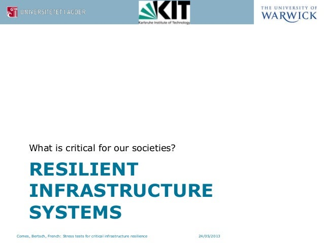 Designing dynamic stress tests for improved critical infrastructure resilience Slide 2