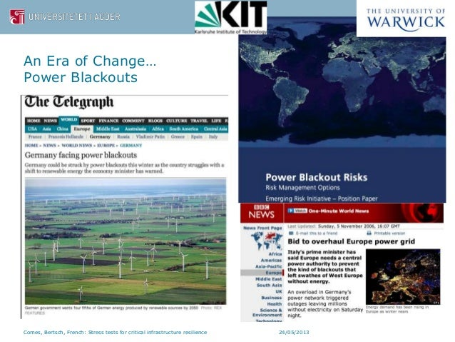 Designing dynamic stress tests for improved critical infrastructure resilience Slide 3