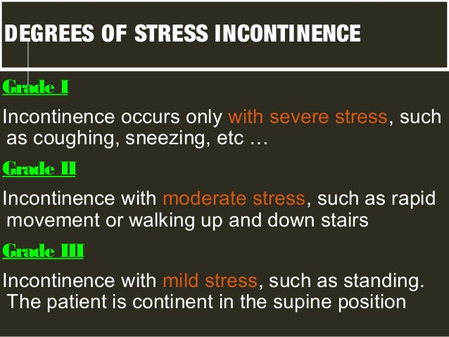 Stress urinary incontinance