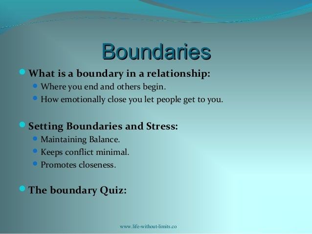 What are good boundaries in a relationship