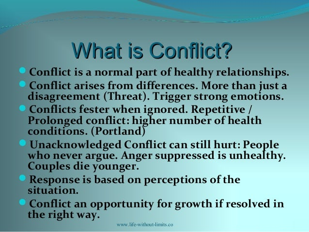 Conflict Examples