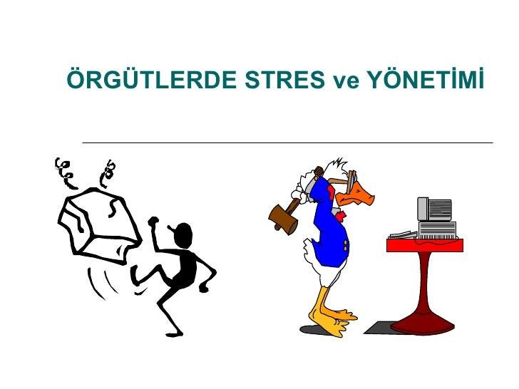 ÖRGÜTLERDE STRES ve YÖNETİMİ