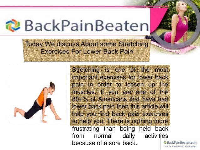 Stretching exercises for lower back pain Slide 3
