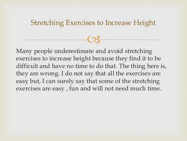 Stretching Exercises to Increase Height Slide 2