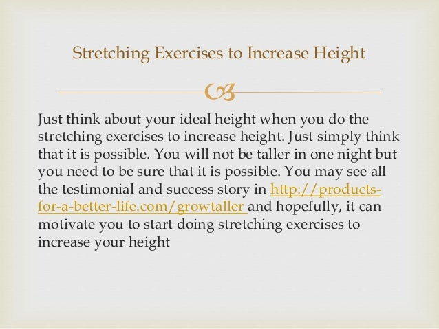 Stretching Exercises to Increase Height Slide 3