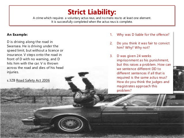 strict liability  strict liability