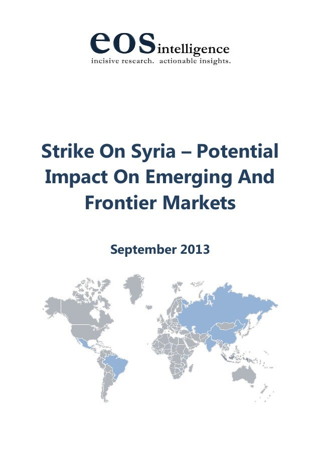 Strike On Syria – Potential Impact On Emerging And Frontier Markets September 2013