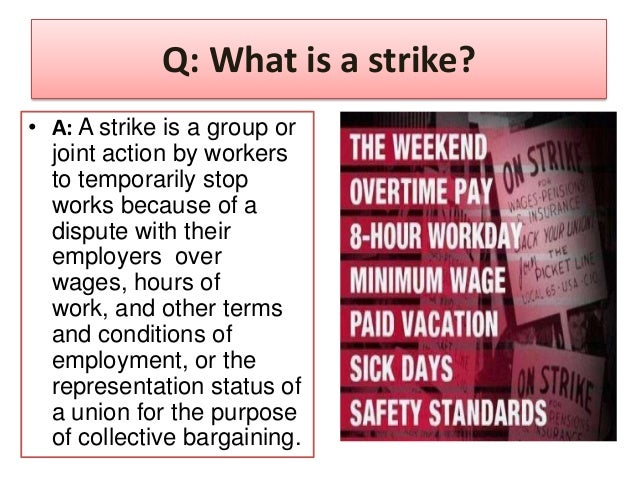 strikes and lockouts 601during the term of this collective agreement there shall be no lockouts by the employer and no interruption or impeding of work, work stoppage, strike, sit-down, slow-down, or any other interference with production by any employee or employees.