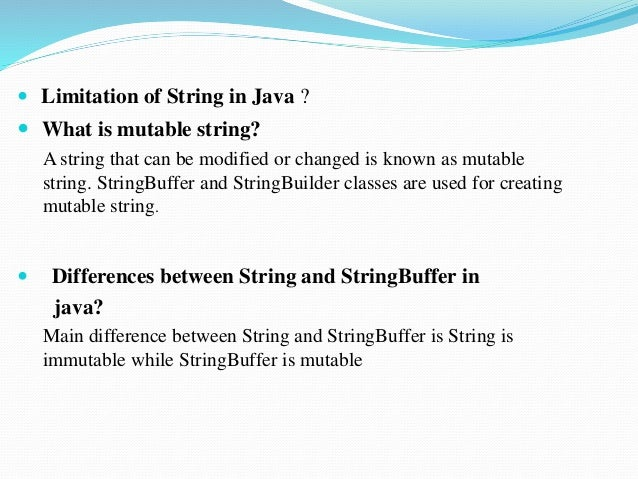 Difference Between String StringBuffer and StringBuilder in Java