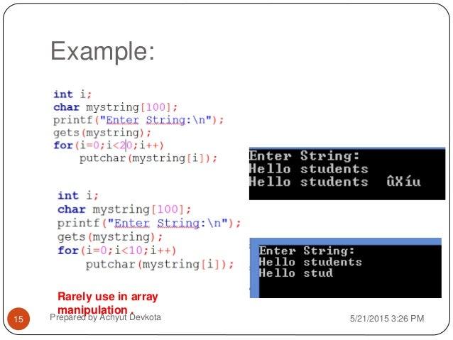 C programming - String
