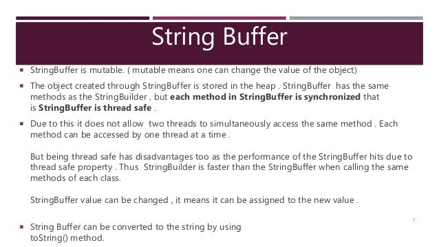 String Builder & String Buffer (Java Programming)