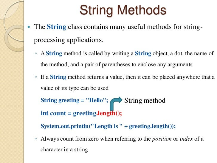 how to write a to string method in java