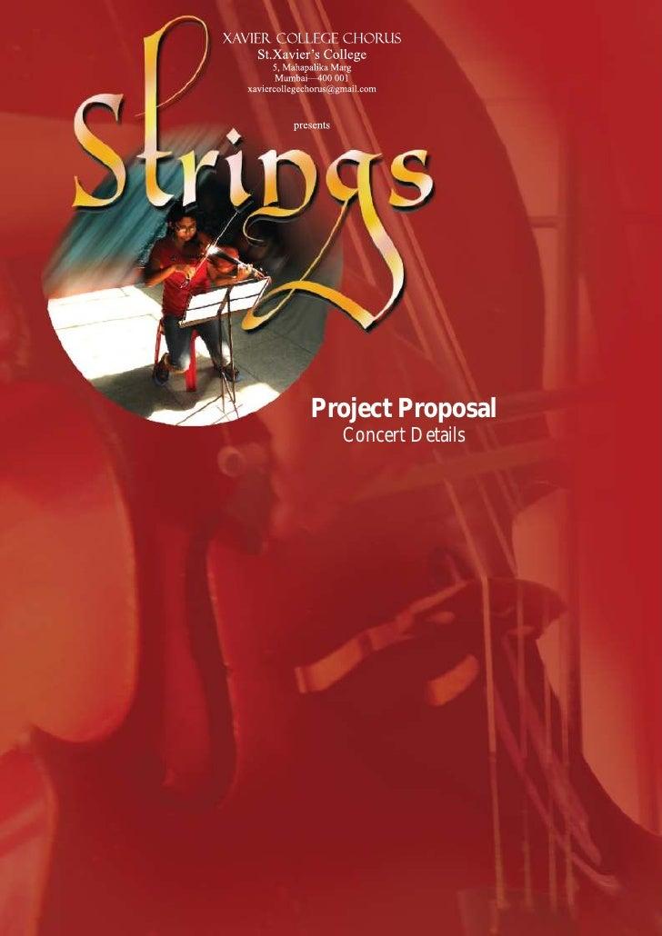 Project Proposal  Concert Details
