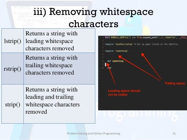 Python Remove Leading Whitespace From String Python Remove