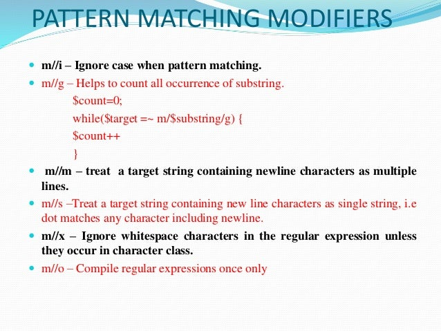 Strings,patterns and regular expressions in perl