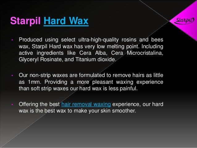 Stripless hard wax by starpil wax