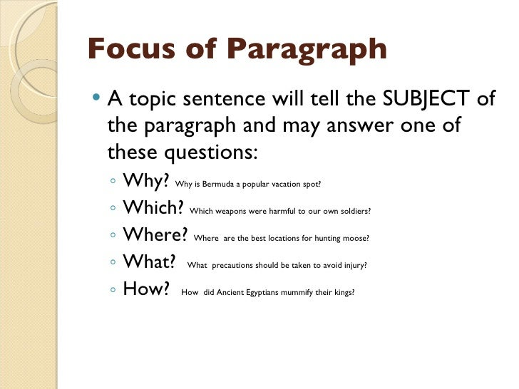 how to make a topic sentence