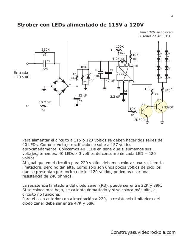 2 Strober con LEDs alimentado de 115V a 120V                                                                              ...