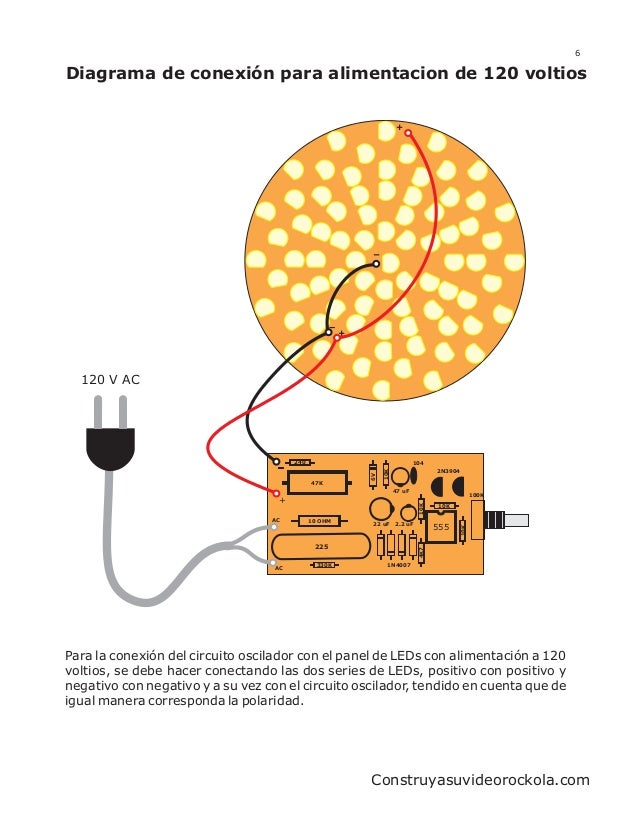 6Diagrama de conexión para alimentacion de 120 voltios                                                                    ...