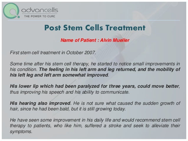 Stroke Treatment And Cure Stem Cell Treatment For Stroke