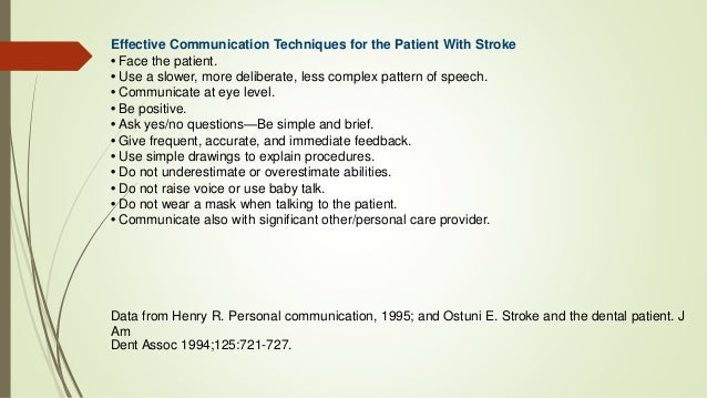Stroke Dental Management
