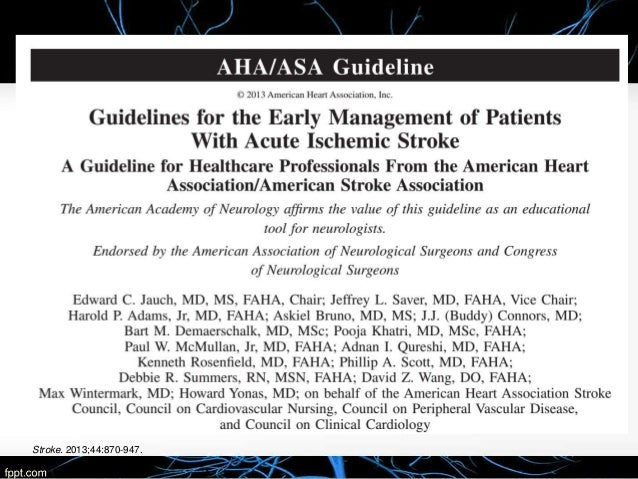 stroke management guidelines 2016 pdf