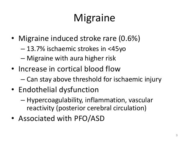 migrän aura stroke