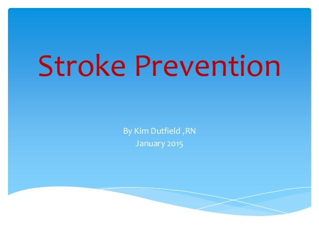 heart disease and stroke presentation Avoiding heart attacks and strokes : don't be a victim - protect yourself 1  the  designations employed and the presentation of the material in this publication do .