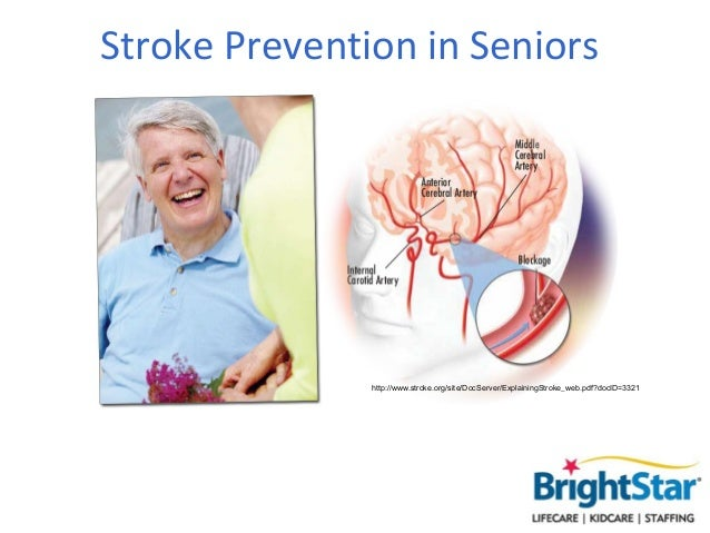 Stroke Prevention in Seniors               http://www.stroke.org/site/DocServer/ExplainingStroke_web.pdf?docID=3321