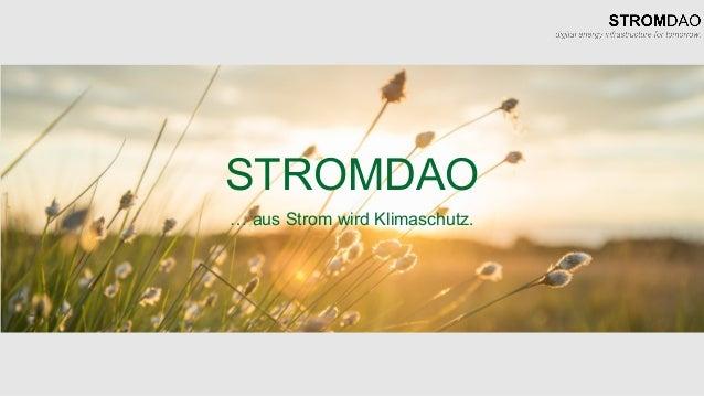 STROMDAO … aus Strom wird Klimaschutz.