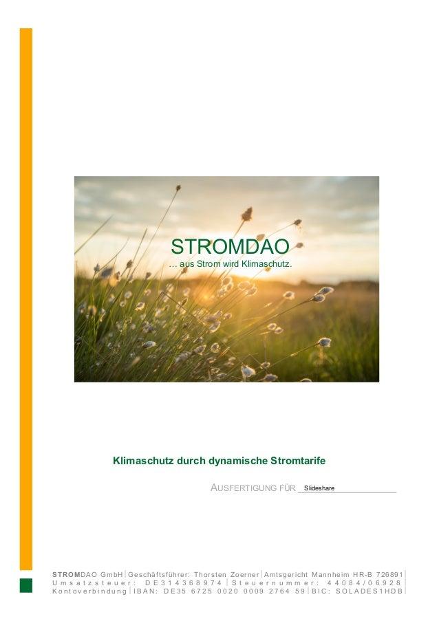 STROMDAO GmbH½Geschäftsführer: Thorsten Zoerner½Amtsgericht Mannheim HR-B 726891½ U m s a t z s t e u e r : D E 3 1 4 3 6 ...