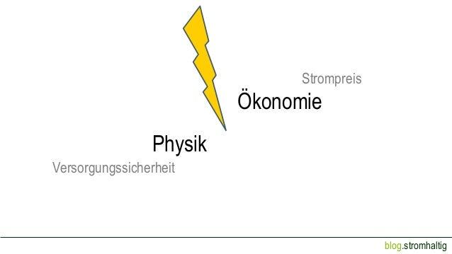 Strompreis  Ökonomie Physik Versorgungssicherheit  blog.stromhaltig