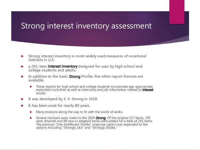 strong interest inventory