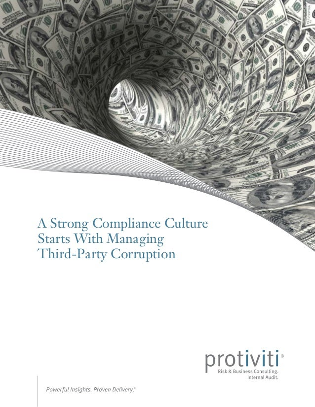 A Strong Compliance Culture Starts With Managing Third-Party Corruption