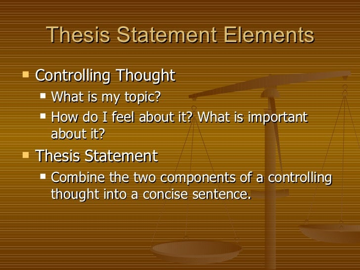 Developing thesis statement-middle school