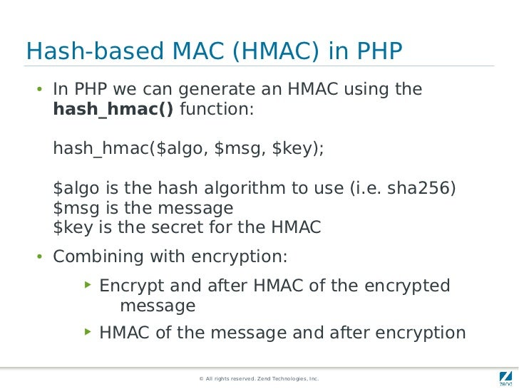 Strong cryptography in PHP
