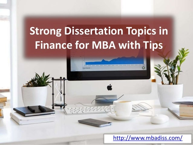 Dissertation in finance