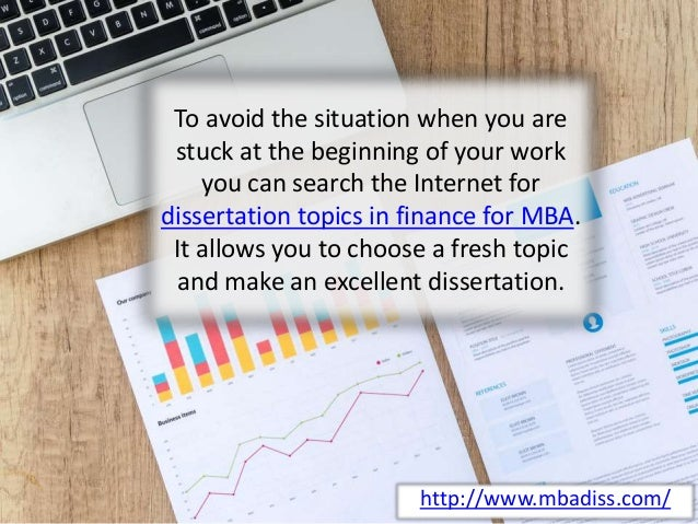 Dissertation projects for mba finance