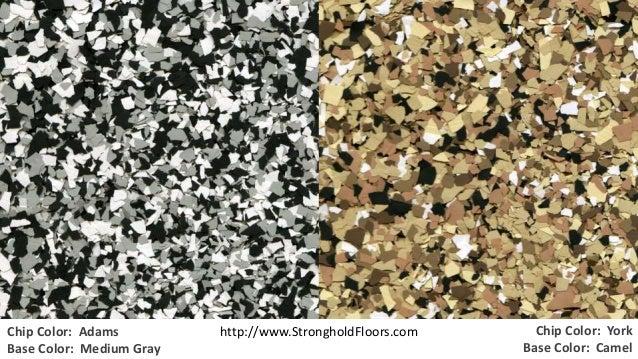 Stronghold Floors - Our Standard Chip Blends for Epoxy Garage Floor Coatings Slide 3