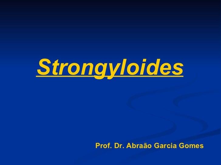 Strongyloides Prof. Dr. Abraão Garcia Gomes